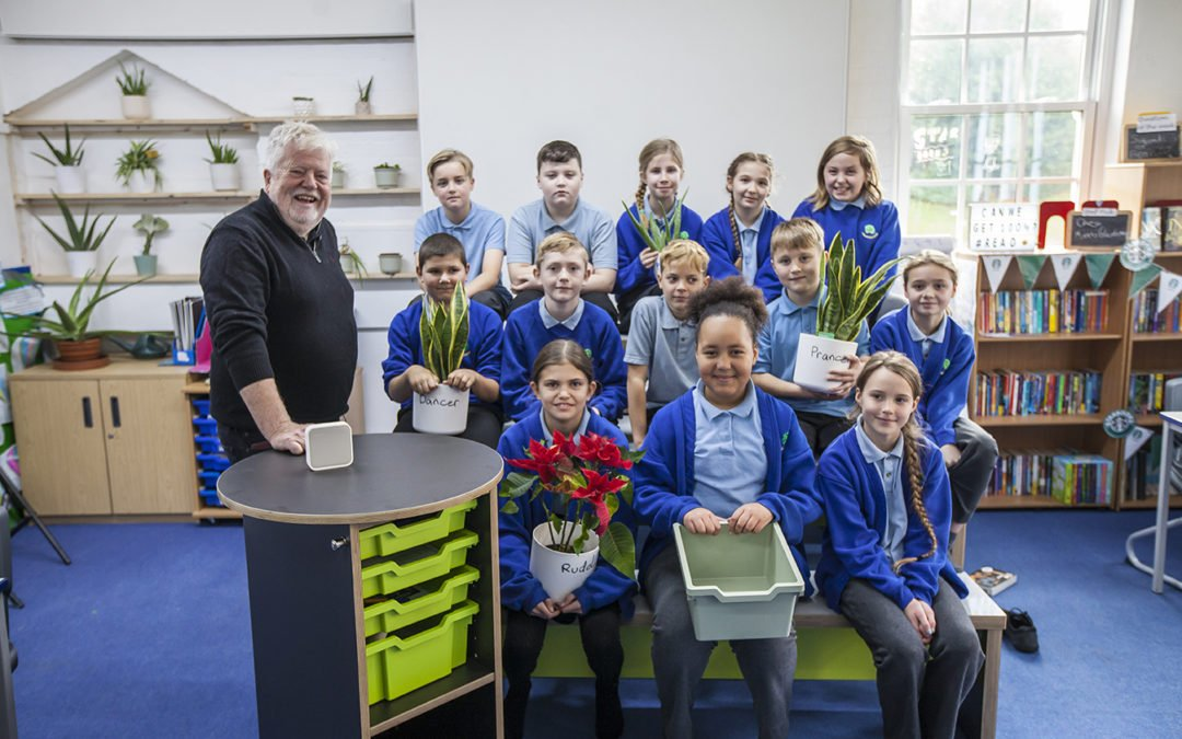 We recently visited Fingringhoe Primary School along with Professor Stephen Heppell to see their Learnometer in action.